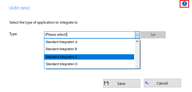 Integration options
