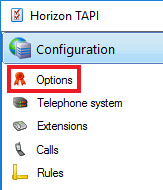 Configuration window