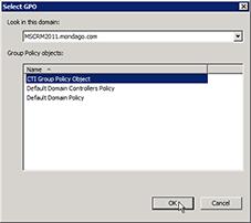 Select GPO window