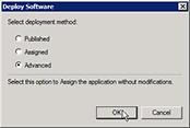 Deploy software window