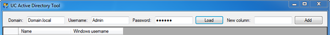 UCAD tool login